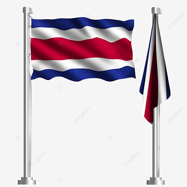central american civilization striped waving costa rica flag