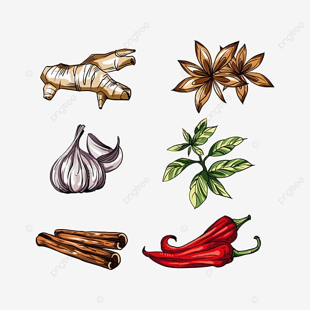 colorful seasonings and spices