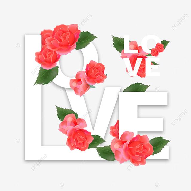 creative love flower font