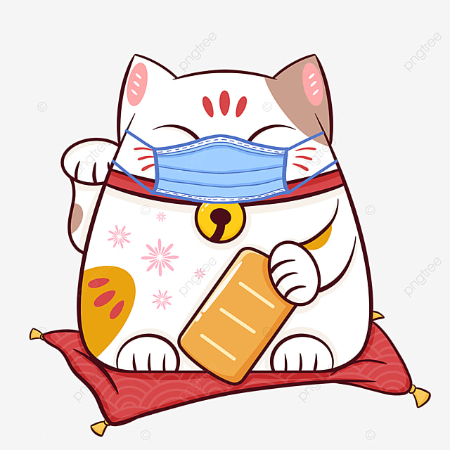 cute lucky cat virus protection
