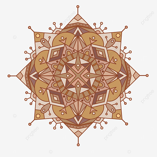 dotted line mandala ornament abstract texture