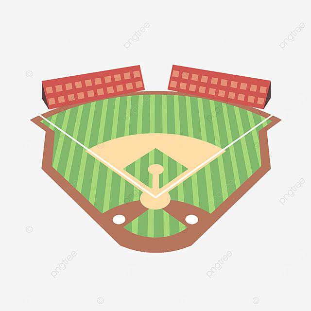exquisite baseball field and auditorium clipart