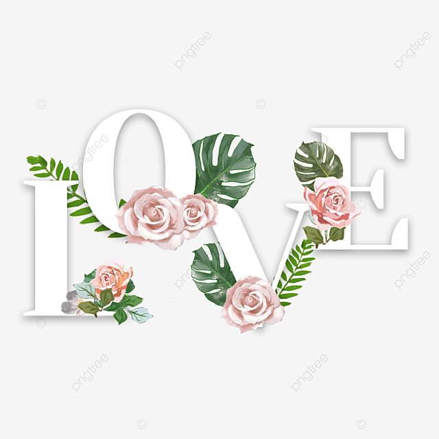 flower plant love font