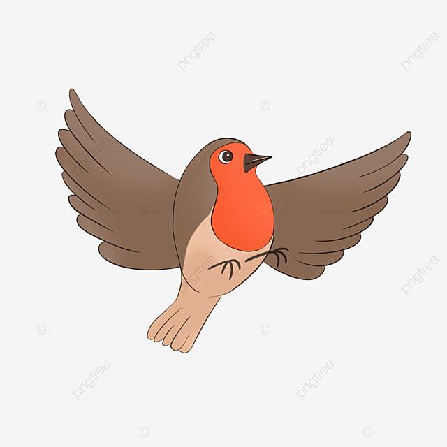 flying card notification robin clip art