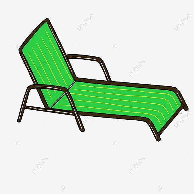 folding beach chair clip art