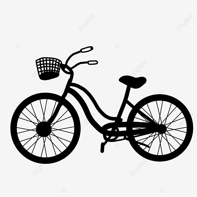 fun physical activity bicycle clipart black and white