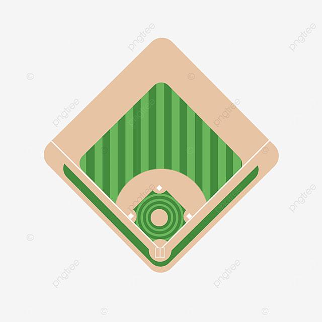 green aerial view baseball field clipart