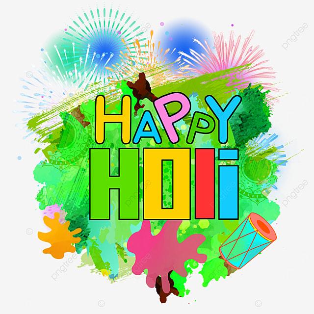 green happy holi border