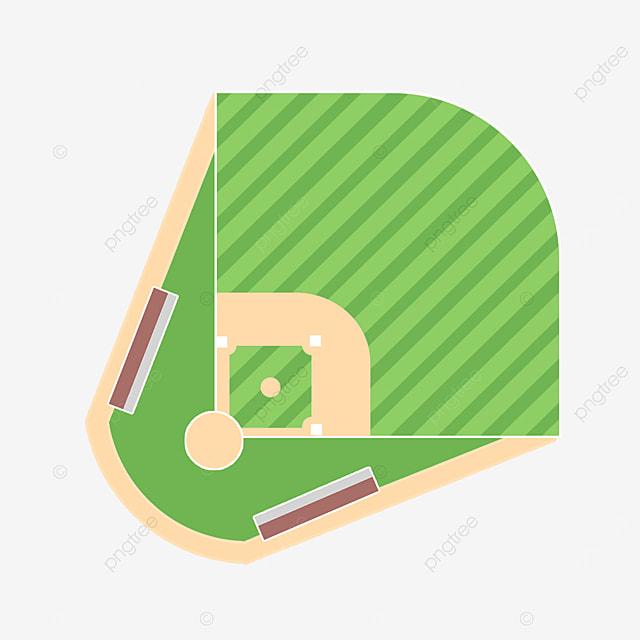 green texture baseball field clipart
