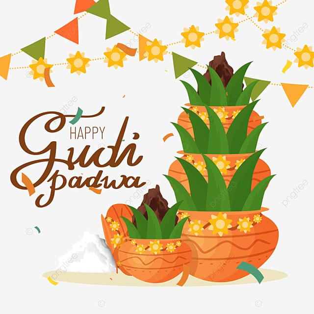 hindu new year gudi padwa plant pot