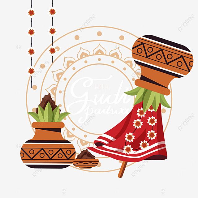 indian new year gudi padwa pattern lines