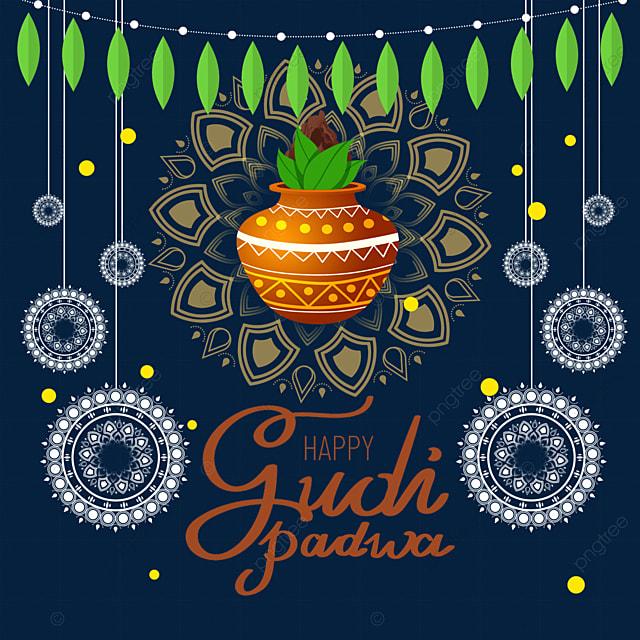 indian new year gudi padwa shading