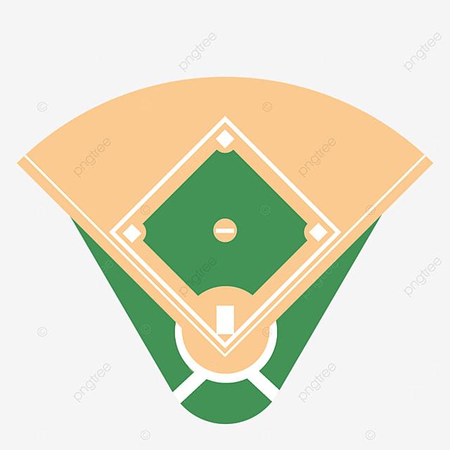 isolated baseball field clipart