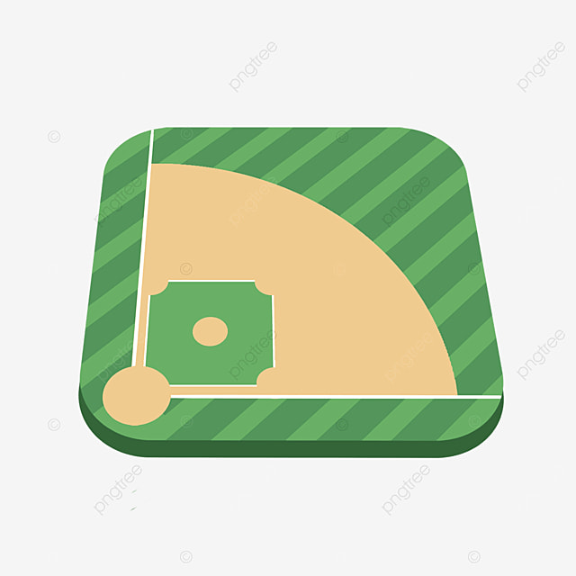 isometric baseball field clipart
