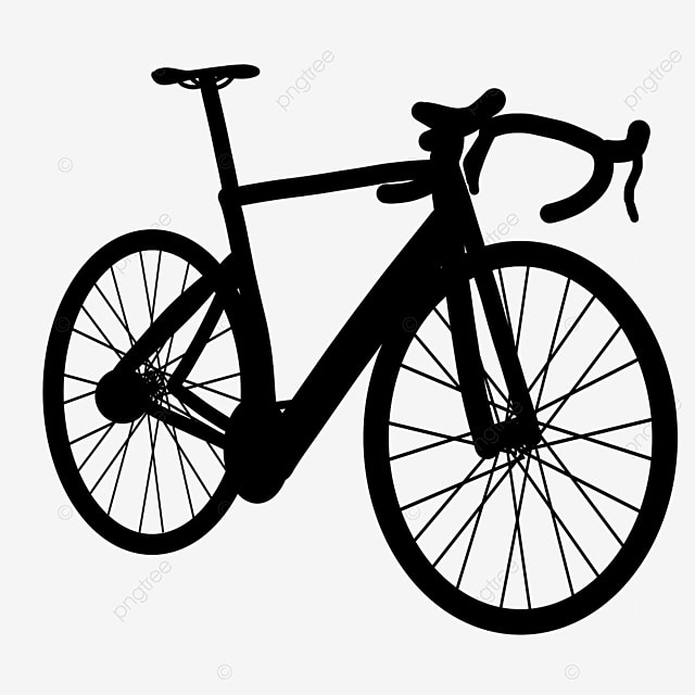 land small vehicle bicycle clipart black and white