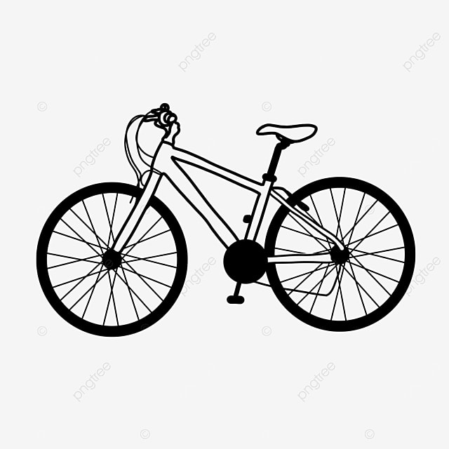 lifestyle sports healthy bike clipart black and white
