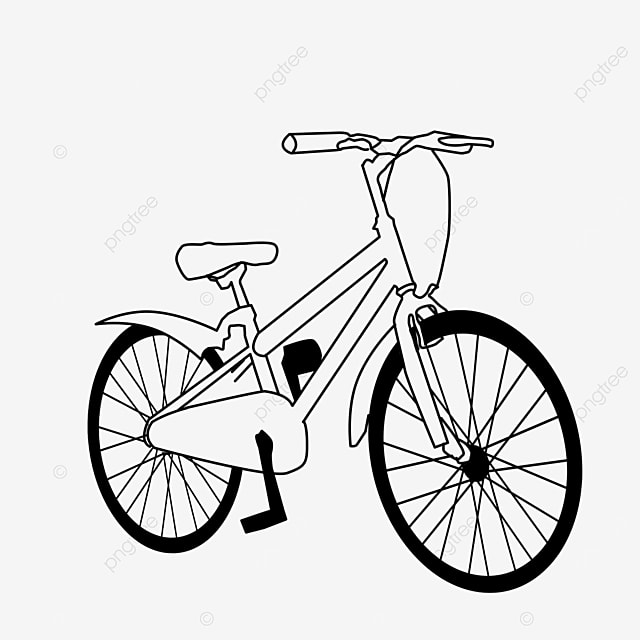 lifestyle transportation mobility bicycle clipart black and white