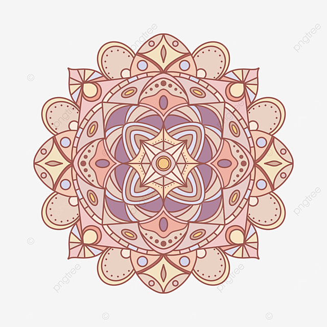 light colored mandala ornament abstract texture