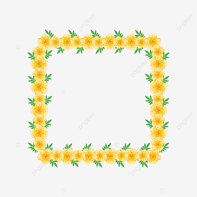 light yellow square plant border