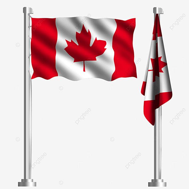 maple leaf red waving canadian flag
