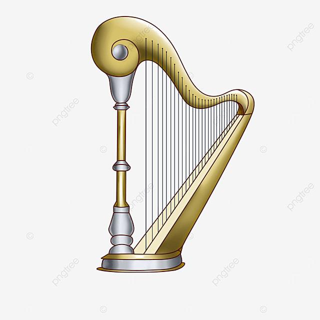 metal harp clip art