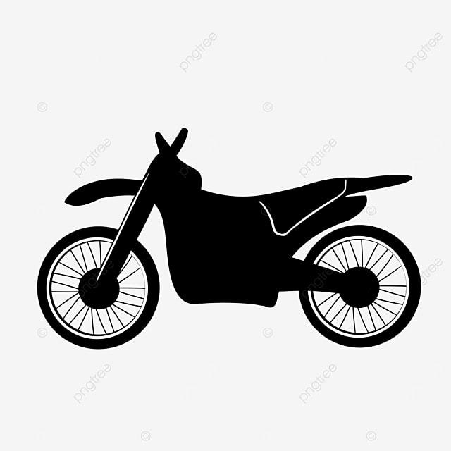 minimalistic cartoon motorcycle off road vehicle clipart