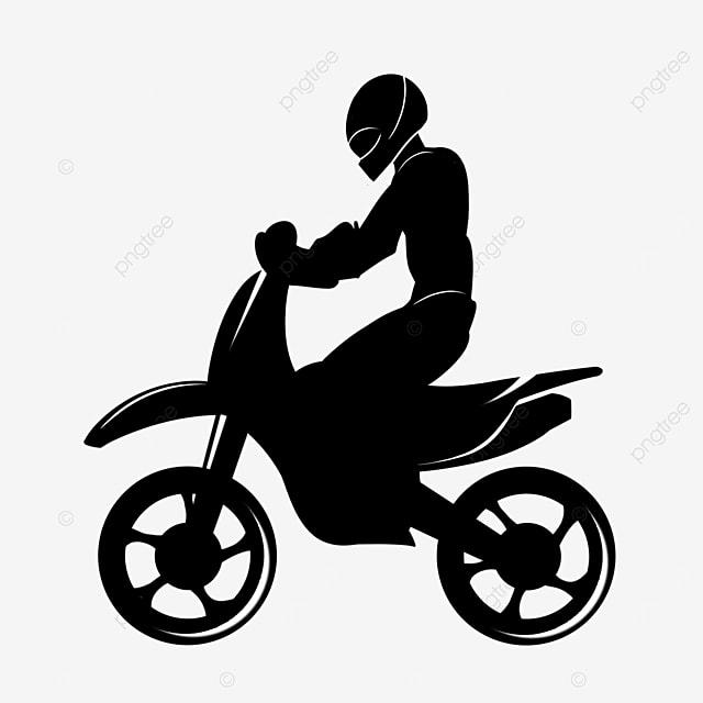 motocross rider clipart