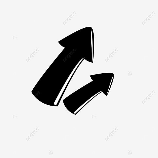 one big and one small arrow clip art