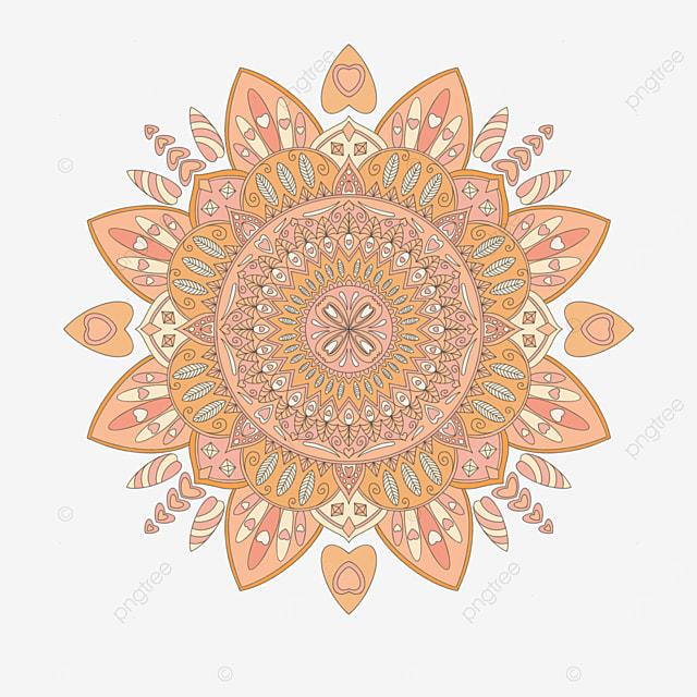 orange mandala ornament abstract texture