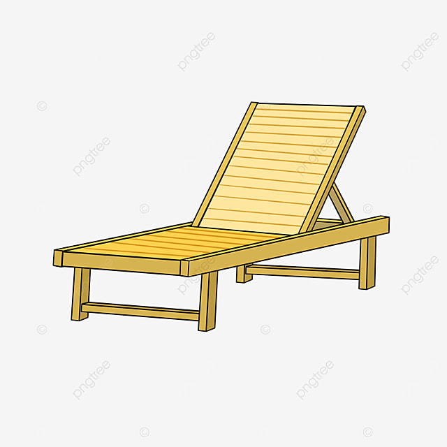 outdoor beach deck chair clipart