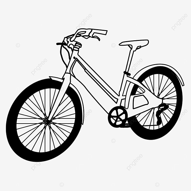 outdoor equipment leisure life bicycle clipart black and white