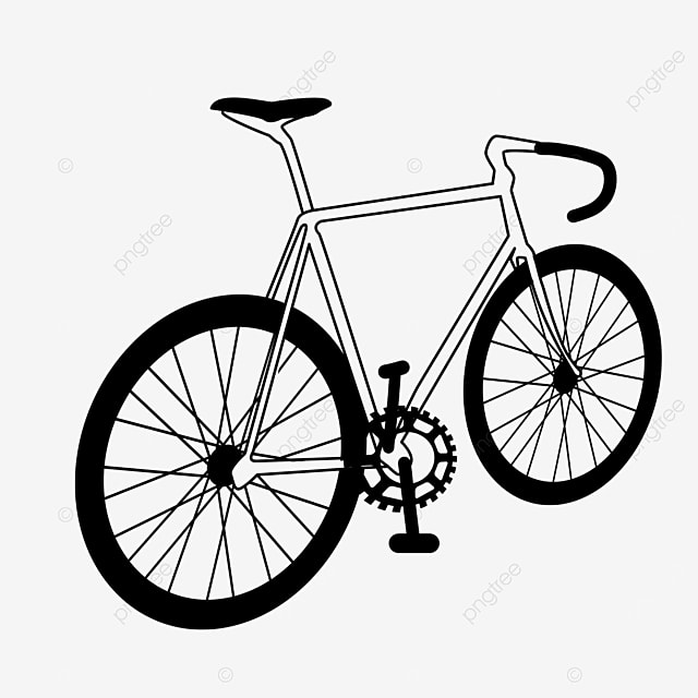 outdoor exercise consumes physical strength bicycle clipart black and white