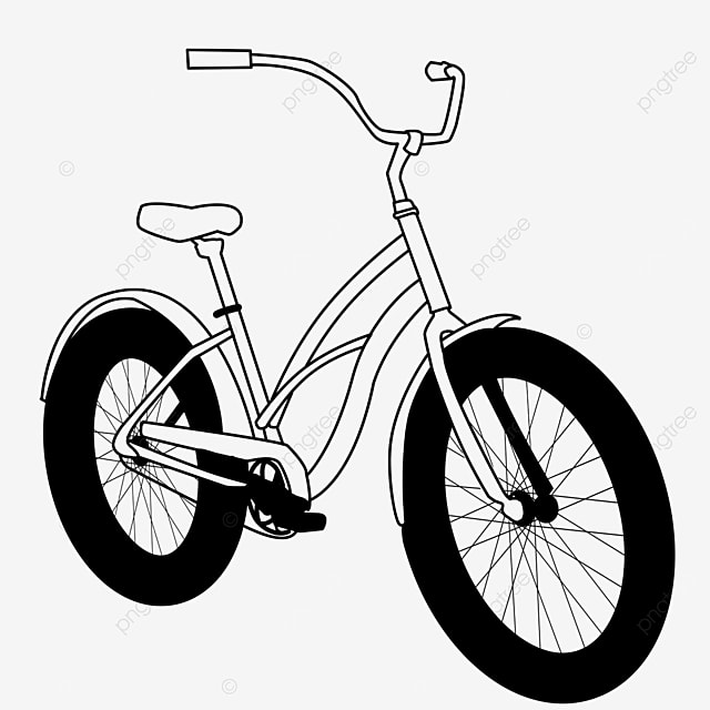 outdoor life sports healthy bicycle clipart black and white