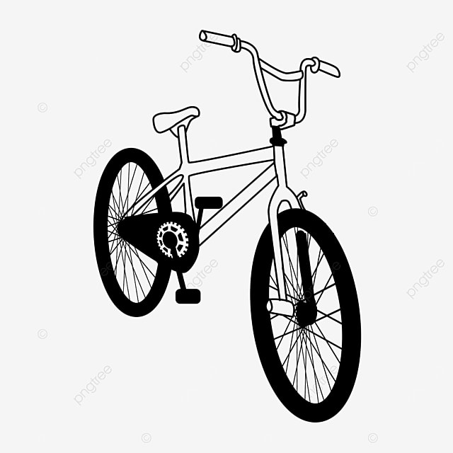 outdoor sports pedal physical bicycle clipart black and white