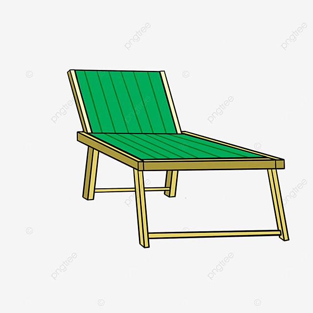 outdoor sun beach lounge chair clipart