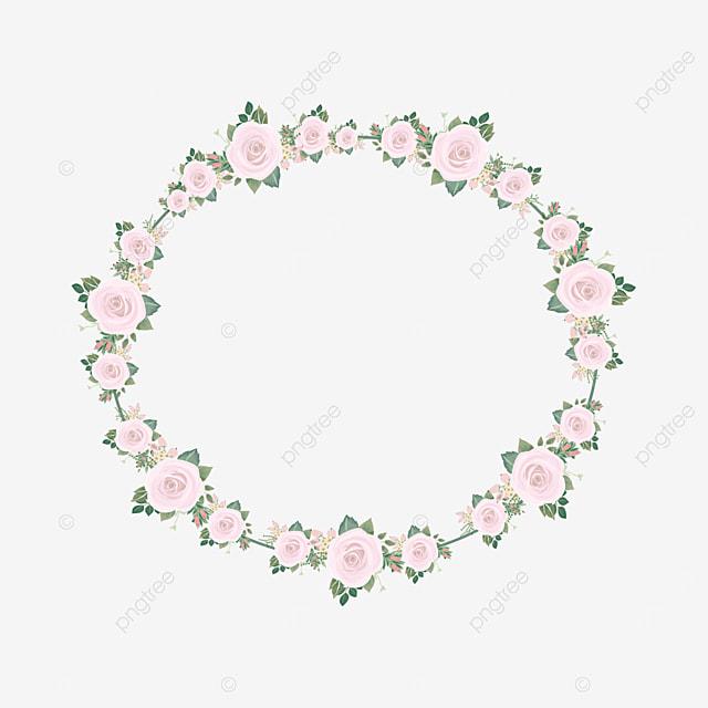 oval rose border