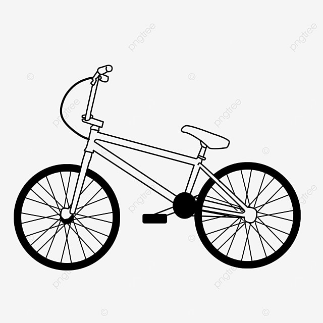 pedal small vehicle bicycle clipart black and white