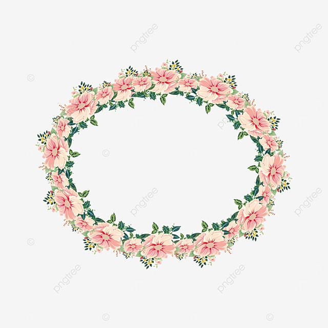 pink garland plant border