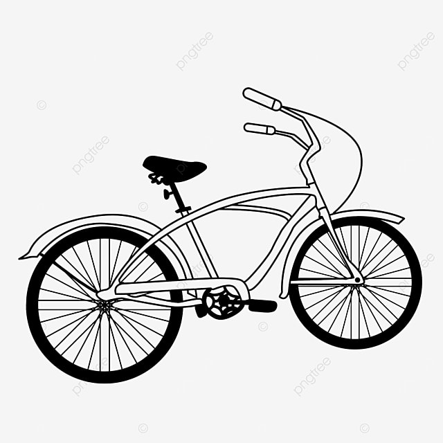 popular leisure activity bicycle clipart black and white