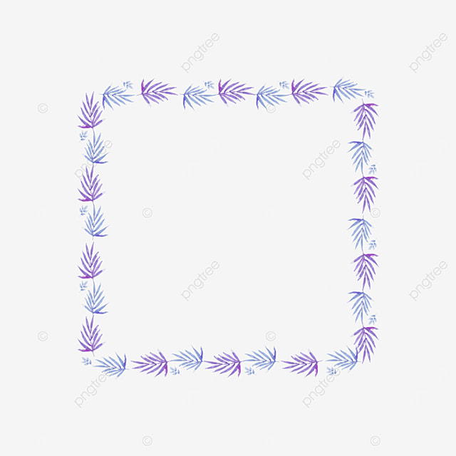 purple leaves square border