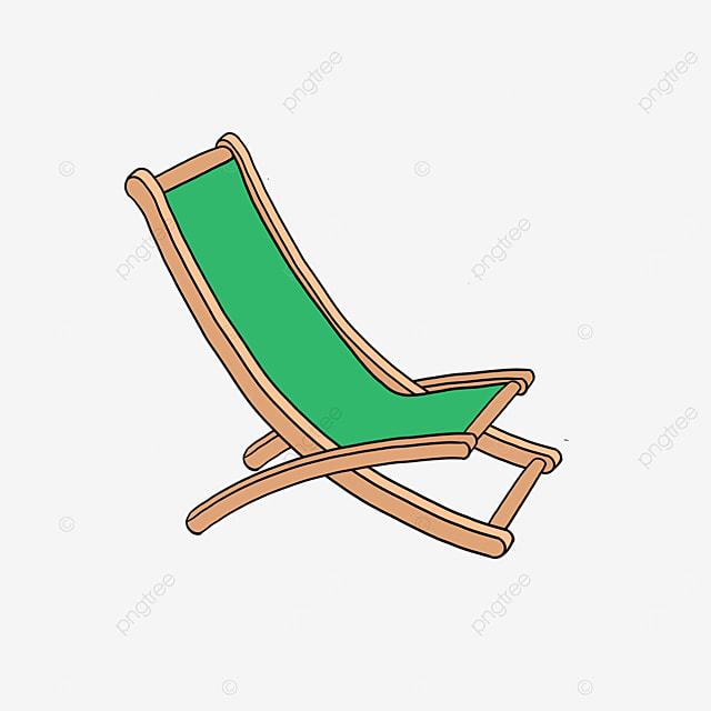 rest folding beach deck chairs clipart
