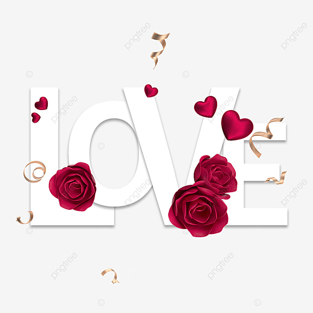 romantic rose love font
