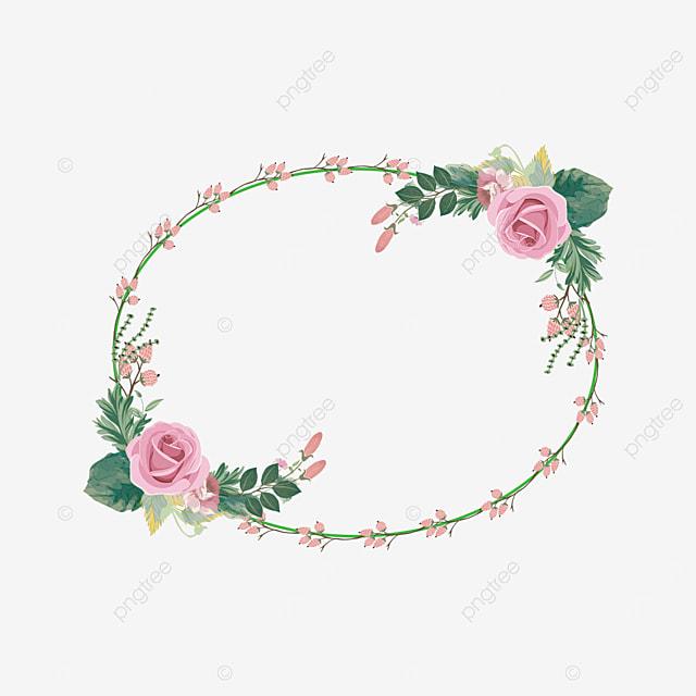round flower plant border