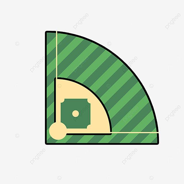 sports baseball field clipart