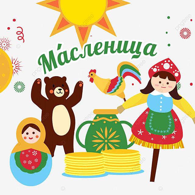 sun carnival celebration russian dolls russian maslenitsa