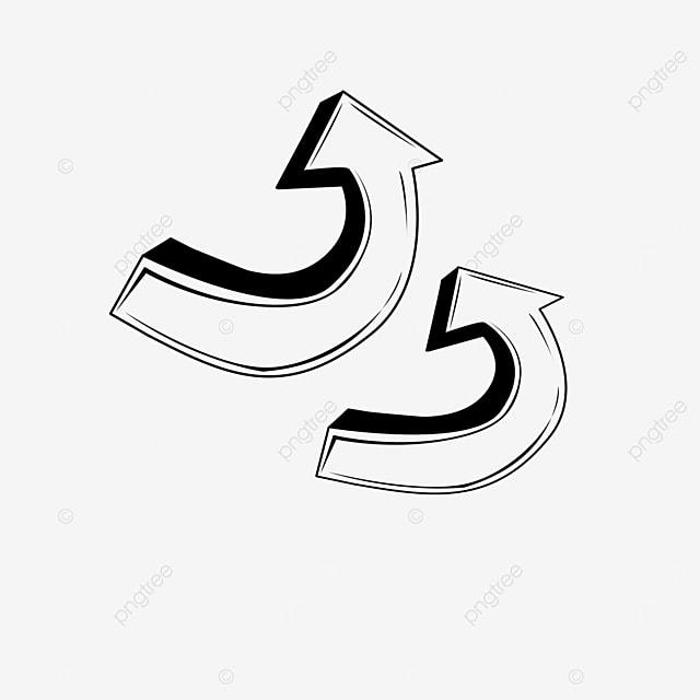 three dimensional arrow clip art