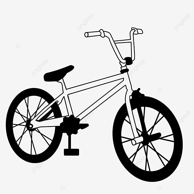 transportation bicycle clipart black and white