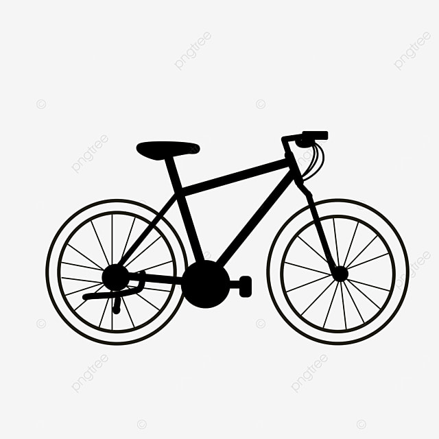 transportation tool bicycle clipart black and white