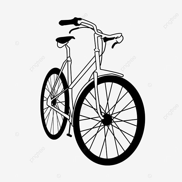 transportation tool cycling lifestyle bicycle clipart black and white