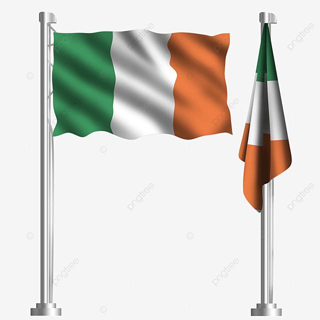 tricolor flag catholic waving irish flag
